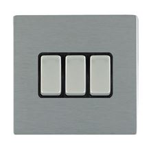 Picture of Sheer Screwless SS/BL 3 Gang 2 WAY 20AX Rocker Switch