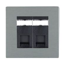 Picture of Sheer Screwless SS/BL 2 Gang RJ12 Outlet - Unshielded Outlet