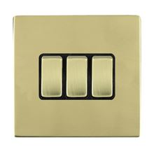 Picture of Sheer Screwless PB/BL 3 Gang 2 WAY 10AX Rocker Switch