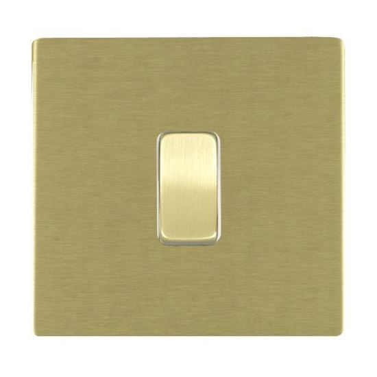 Picture of Sheer Screwless Satin Brass with White Insert