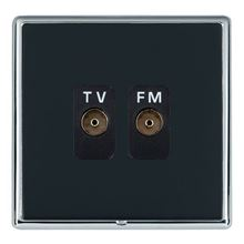 Picture of LRXBCPB 2 Gang Isolated TV/FM 1 in/2 Out Socket