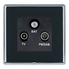 Picture of LRXBCPB 1 Gang TV + 1 Gang FM + 1 Gang Satellite Socket
