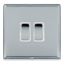 Picture of LRXBCBS 2 Gang 2 Way 10AX Rocker Switch - White