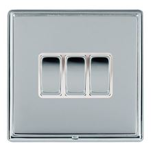 Picture of LRXBCBS 3 Gang 2 Way 10AX Rocker Switch - White