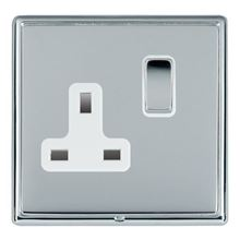 Picture of LRXBCBS 1 Gang 13A Double Pole Switched Socket - White