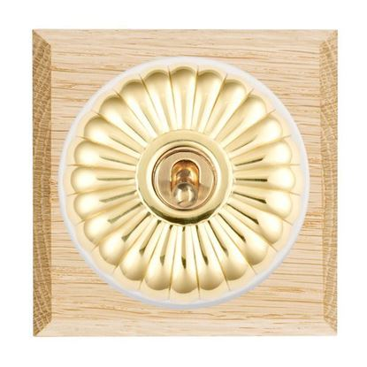 Picture of Fluted Dome Light Oak Chamfered Edge with White Collars