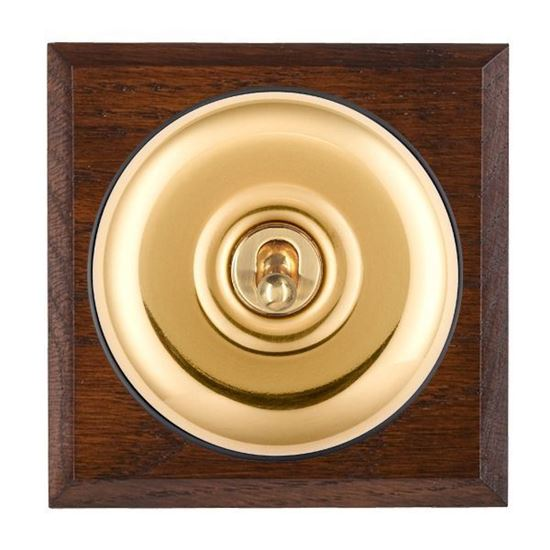 Picture of Plain Dome Antique Mahogany Finish Chamfered Edge with Black Collars