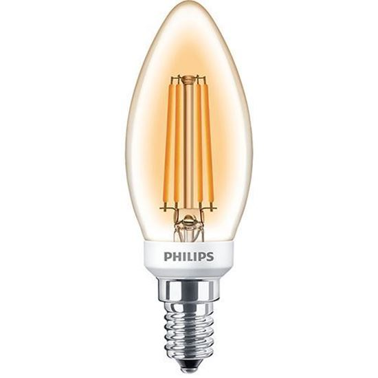 Picture of 5W-35W Classic Gold Dimmable LED Candle E14