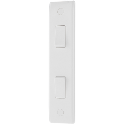 Picture of 10A 2 Gang 2 Way Architrave Switch