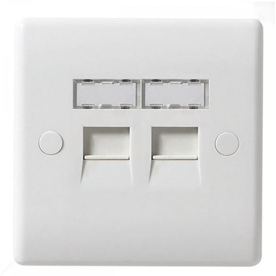 Picture of 2 Gang RJ45 Telephone Socket (Screw)