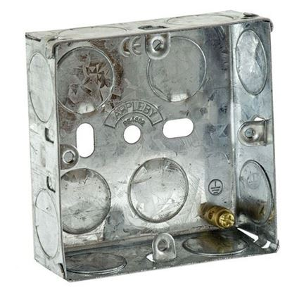 Picture of Flush Metal Back Box 1 Gang 25mm