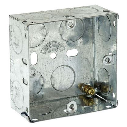 Picture of Flush Metal Back Box 1 Gang 35mm
