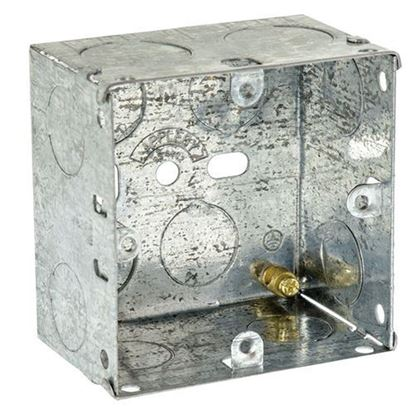 Picture of Flush Metal Back Box 1 Gang 47mm