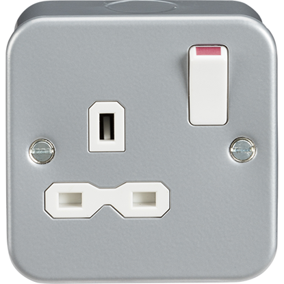 Picture of Metal Clad 13A 1 Gang Double Pole Switched Socket