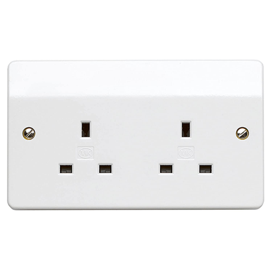 Picture of 13A 2 Gang Unswitched Socket