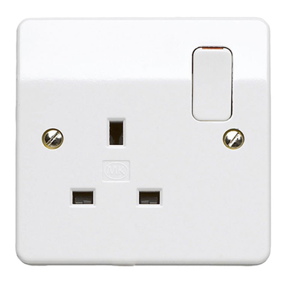 Picture of 13A 1 Gang Double Pole Switch Socket