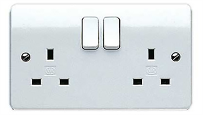 Picture of 13A 2 Gang Double Pole Switch Socket