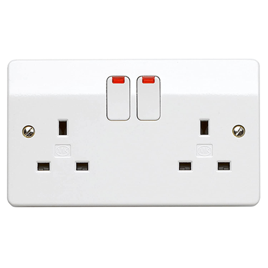 Picture of 13A 2 Gang Double Pole Switch Socket with Neon