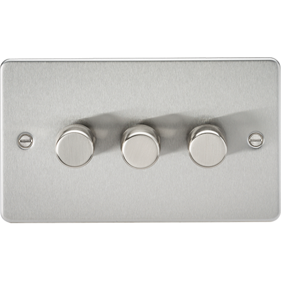 Picture of 3 Gang 2 Way 10-200W (5-150W LED) Trailing Edge Dimmer - Brushed Chrome