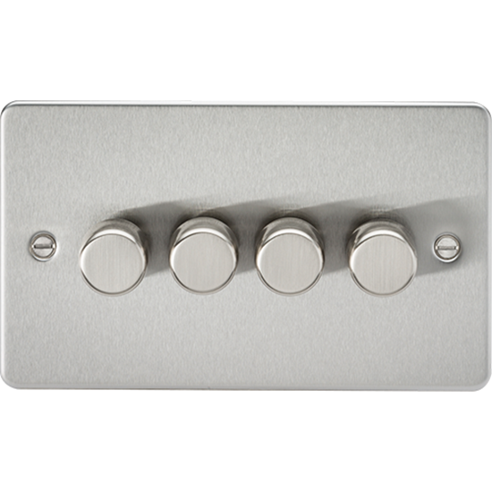 Picture of 4 Gang 2 Way 10-200W (5-150W LED) Trailing Edge Dimmer - Brushed Chrome