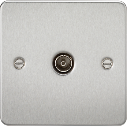 Picture of 1 Gang TV Outlet (Non-Isolated) - Brushed Chrome