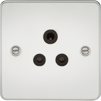 Picture of 5A Unswitched Socket - Polished Chrome with Black Insert