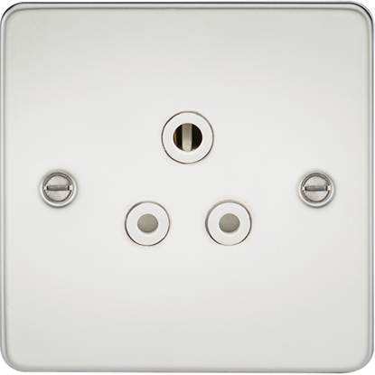 Picture of 5A Unswitched Socket - Polished Chrome with White Insert