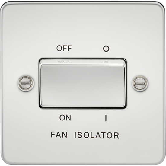 Picture of 10AX 3 Pole Fan Isolator Switch - Polished Chrome