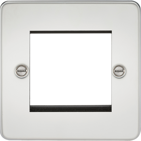 Picture of 2 Gang Modular Faceplate - Polished Chrome