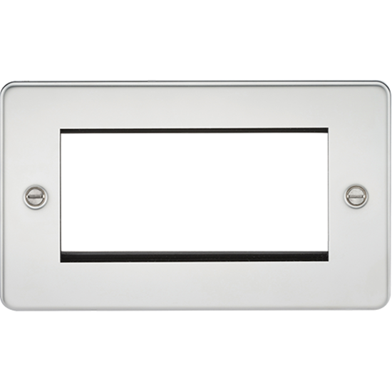 Picture of 4 Gang Modular Faceplate - Polished Chrome