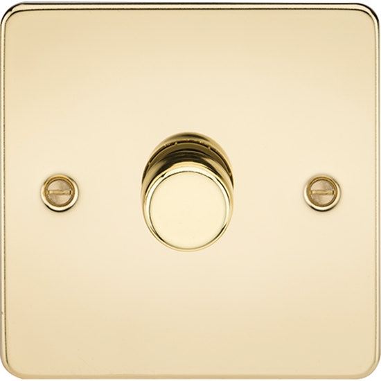 Picture of 1 Gang 2 Way 10-200W (5-150W LED) Trailing Edge Dimmer - Polished Brass