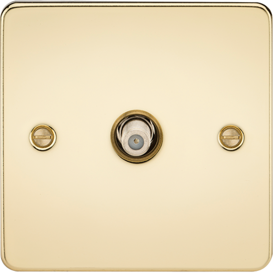 Picture of 1 Gang SAT TV Outlet (Non-Isolated) - Polished Brass
