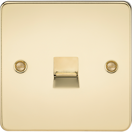Picture of Telephone Extension Socket - Polished Brass