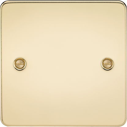 Picture of 1 Gang Blanking Plate - Polished Brass
