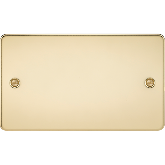 Picture of 2 Gang Blanking Plate - Polished Brass