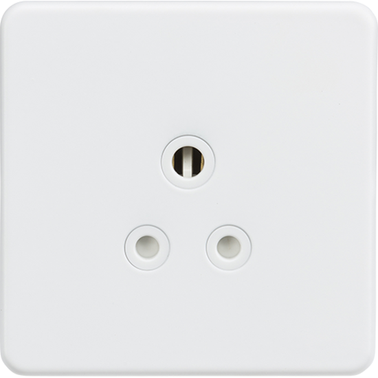 Picture of 5A Unswitched Round Socket - Matt White