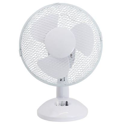 "Picture of Airmaster 9"" 22W 2 Speed White Table Fan"