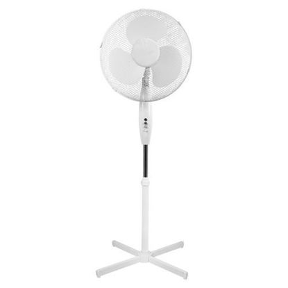 "Picture of Airmaster 16"" 45W 3 Speed Pedestal White Fan"