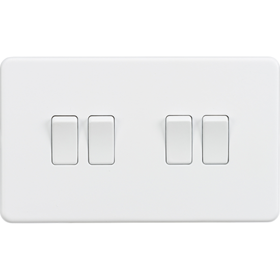 Picture of 10AX 4 Gang 2 Way Switch - Matt White