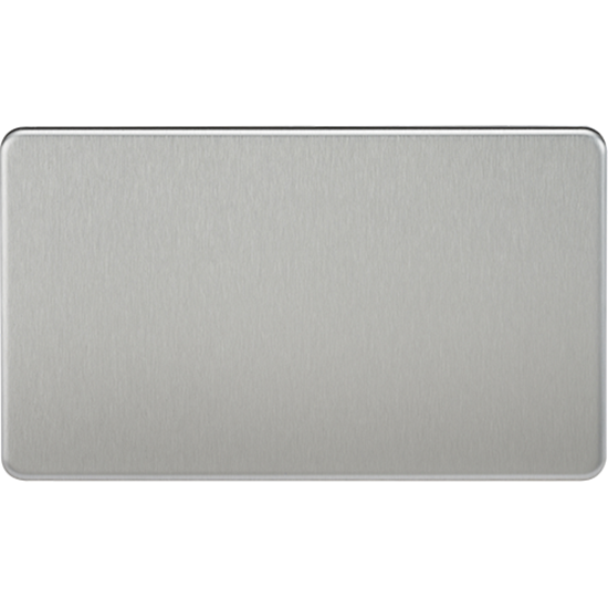 Picture of 2 Gang Blanking Plate - Brushed Chrome