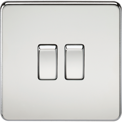 Picture of 10AX 2 Gang 2 Way Switch - Polished Chrome