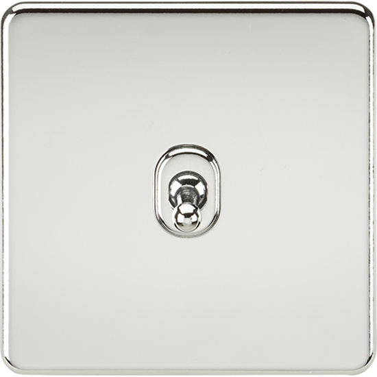 Picture of 10AX 1 Gang 2 Way Toggle Switch - Polished Chrome
