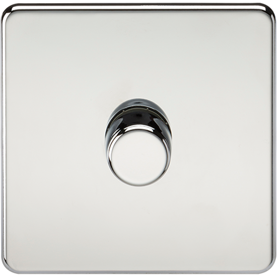 Picture of 1 Gang 2 Way 10-200W (5-150W LED) Trailing Edge Dimmer - Polished Chrome