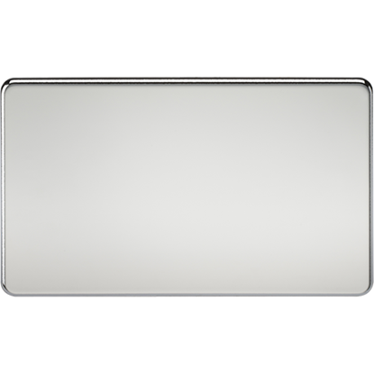 Picture of 2 Gang Blanking Plate - Polished Chrome