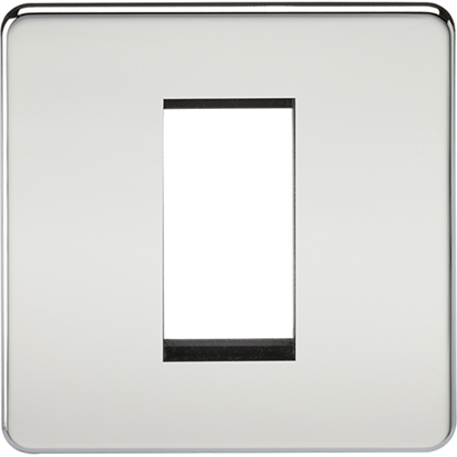 Picture of 1 Gang Modular Faceplate - Polished Chrome