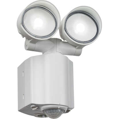 Picture of IP44 2x8W LED Twin Spot White Security Light with PIR