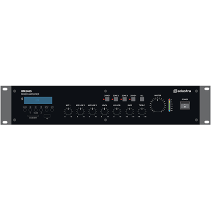 Picture of RM Series RM240S 5-Channel 100V Mixer Amplifier