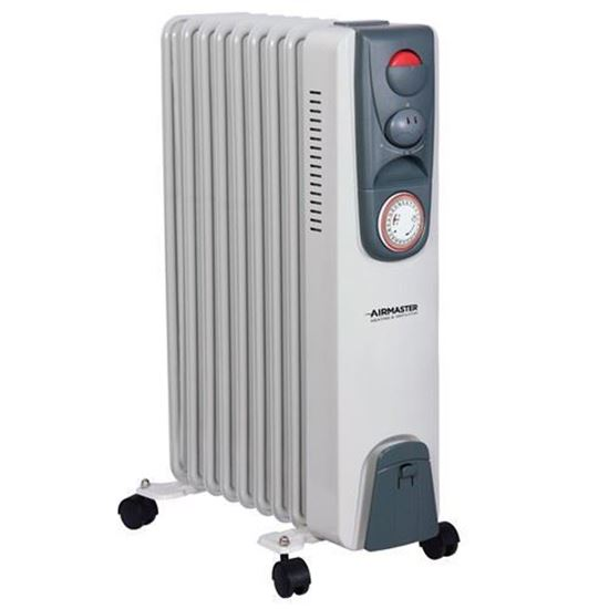 Picture of Airmaster 2KW Oil Filled Radiator 1/2KW with Thermostat & Timer