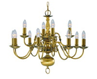 Picture of 12 Light Antique Brass Flemish Fitting