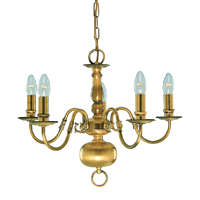 Picture of 5 Light Antique Brass Flemish Fitting